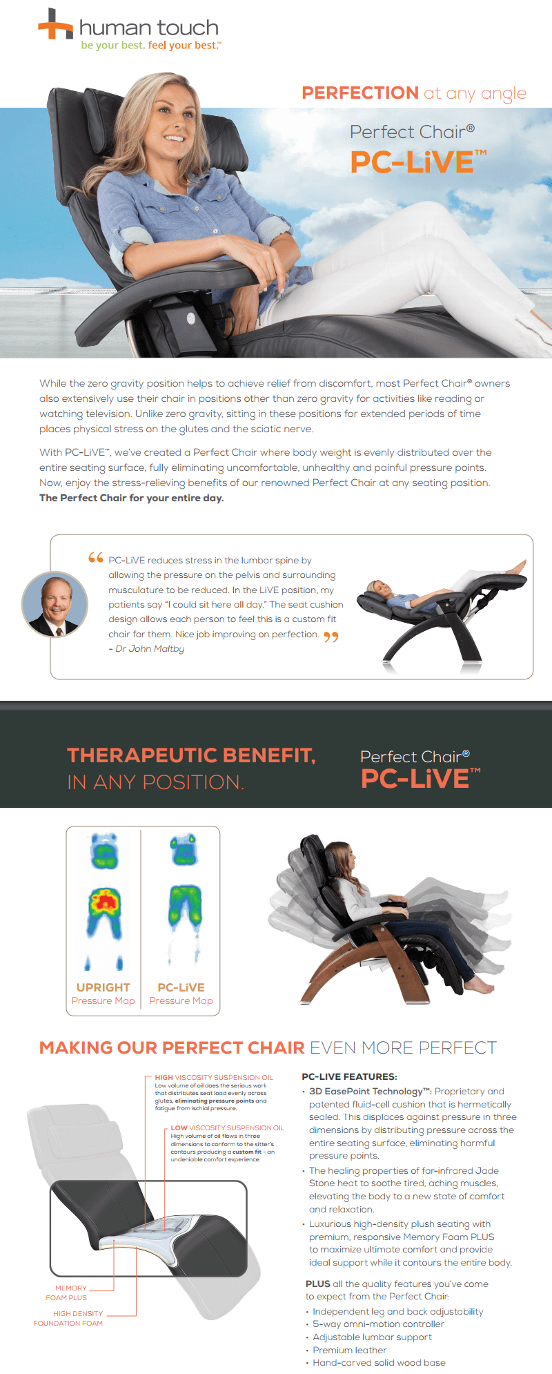 While The Zero Gravity Position Helps To Achieve Relief From Discomfort,  Most Perfect Chair® Owners Also Extensively Use Their Chair In Positions  Other ...
